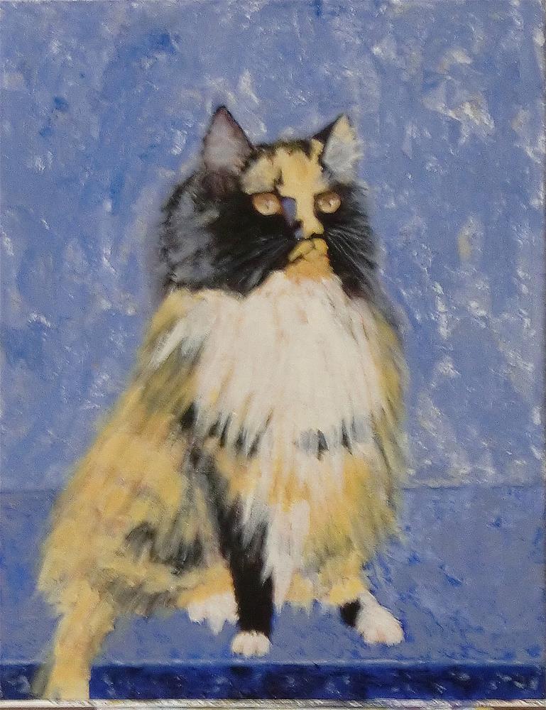 """Cat on Step"" original fine art by karen richardson"