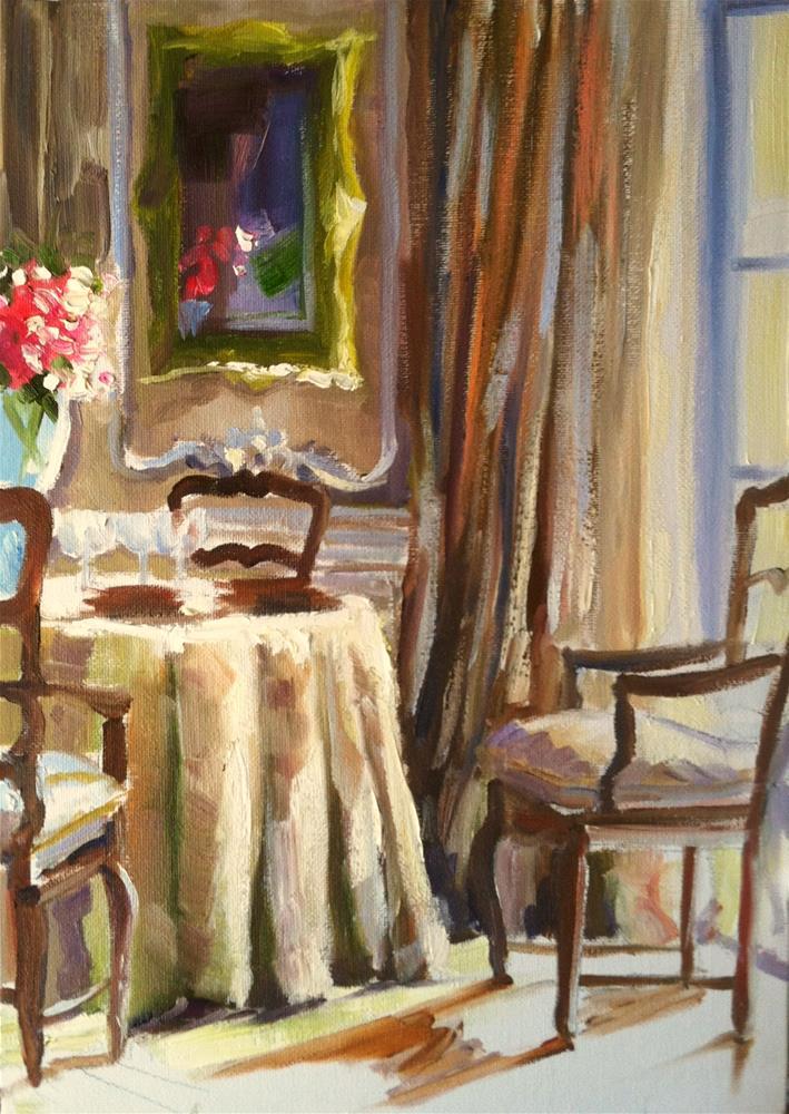 """FRANSE EETKAMER"" original fine art by Cecilia Rosslee"