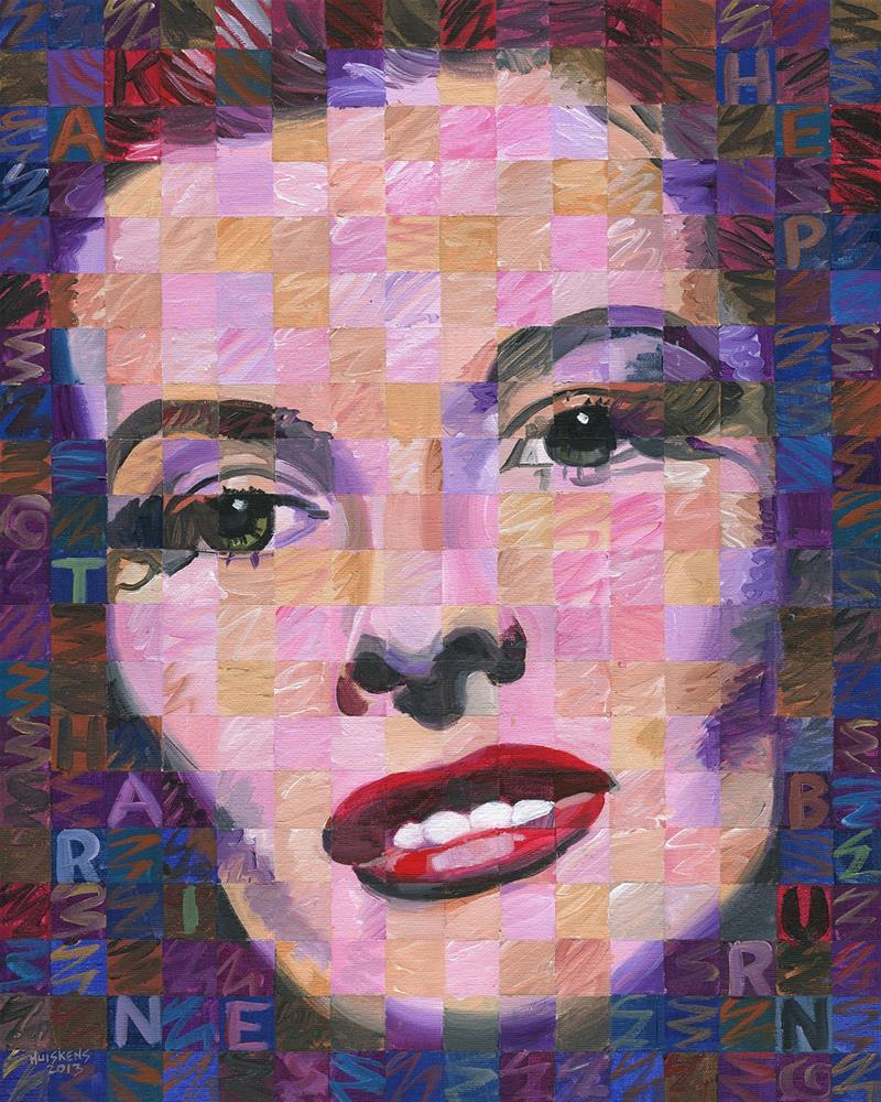 """""""Katharine Hepburn #2"""" original fine art by Randal Huiskens"""
