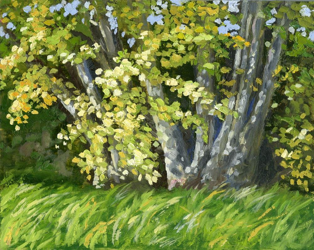 """Breezy Trees"" original fine art by Eileen Hennemann"
