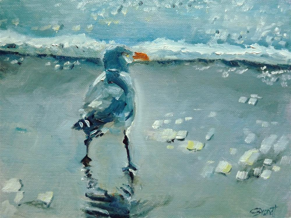 """the seagull"" original fine art by Claudia Brandt"
