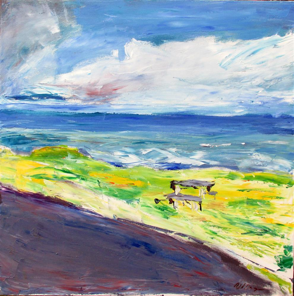 """Portuguese Beach Overlook, Sonoma"" original fine art by Will Dargie"