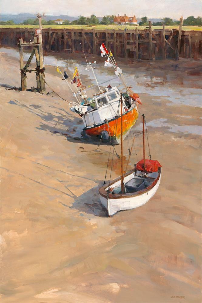 """When the Tide Comes In"" original fine art by Deborah Tilby"