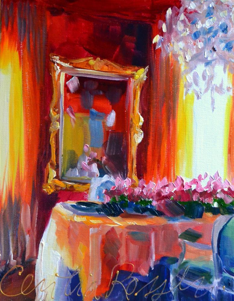 """""""ROOI EETKAMER"""" original fine art by Cecilia Rosslee"""
