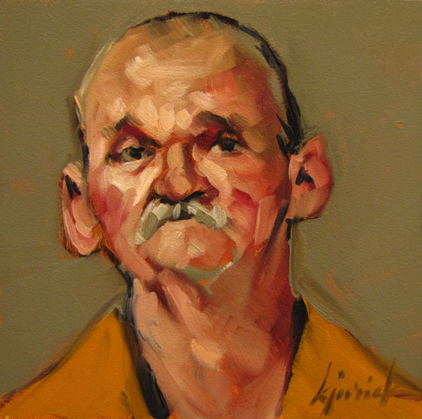 """100 Faces, No. 92"" original fine art by Karin Jurick"