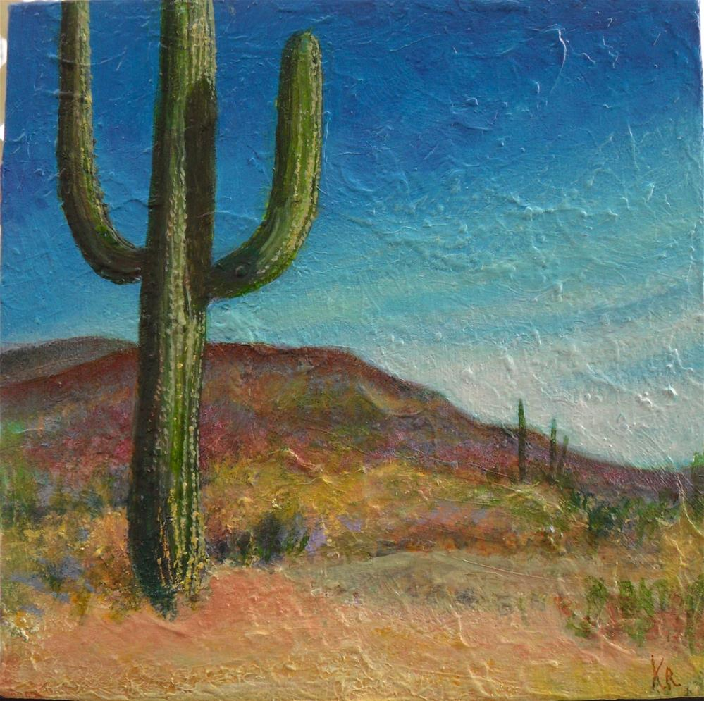 """A Desert Place"" original fine art by Karen Roncari"