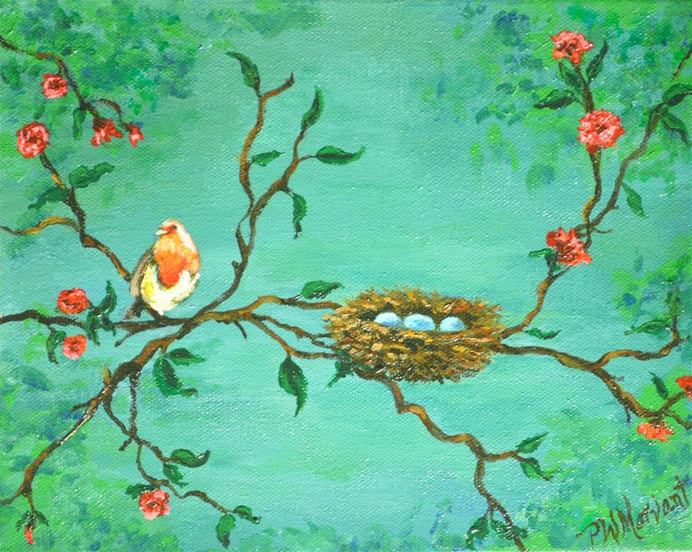 """Watching the Nest"" original fine art by Peggy W Morvant"