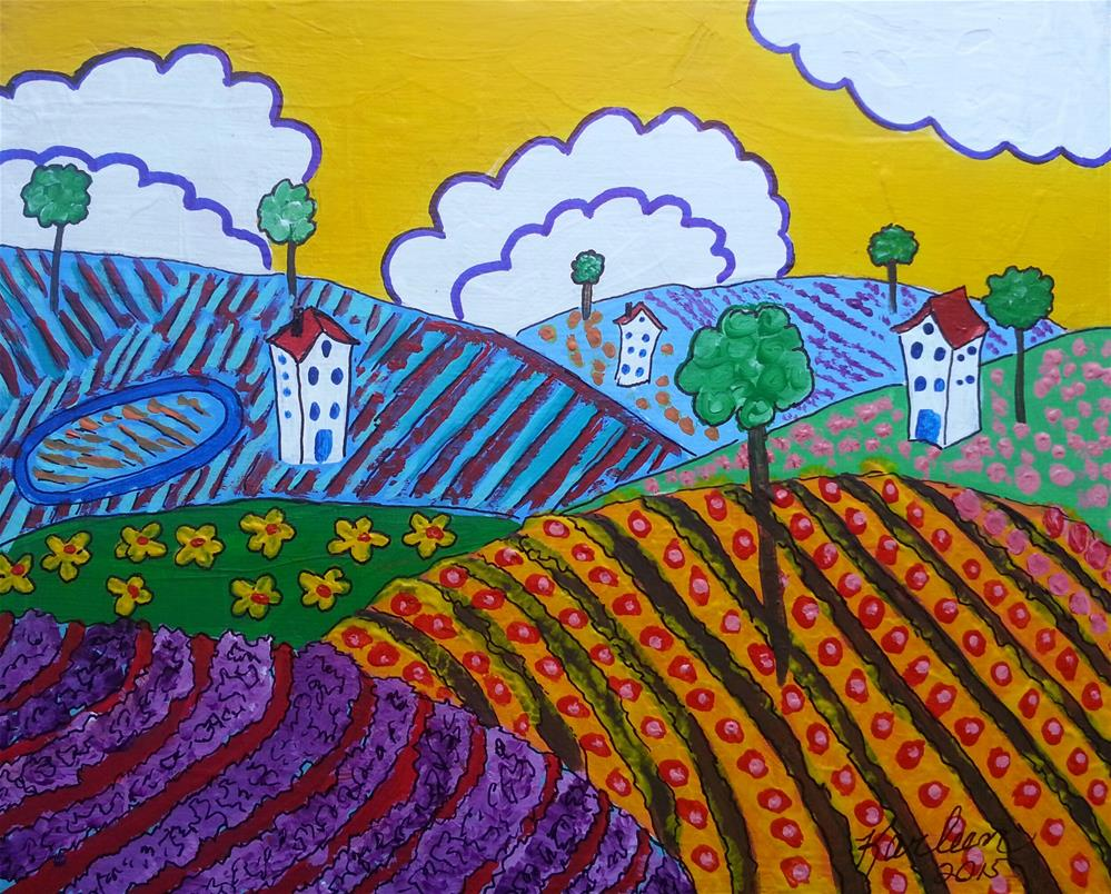"""Rolling Hills"" original fine art by Karleen Kareem"