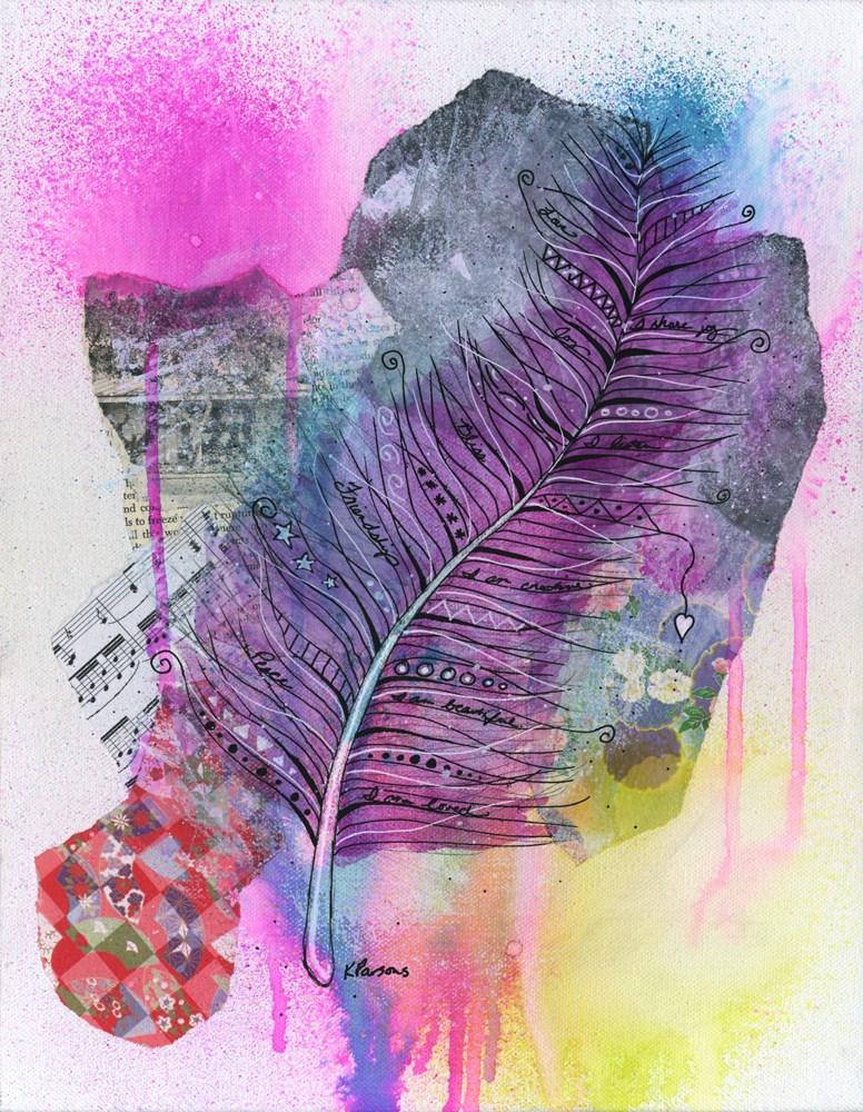 """Empathy Feather"" original fine art by Kali Parsons"