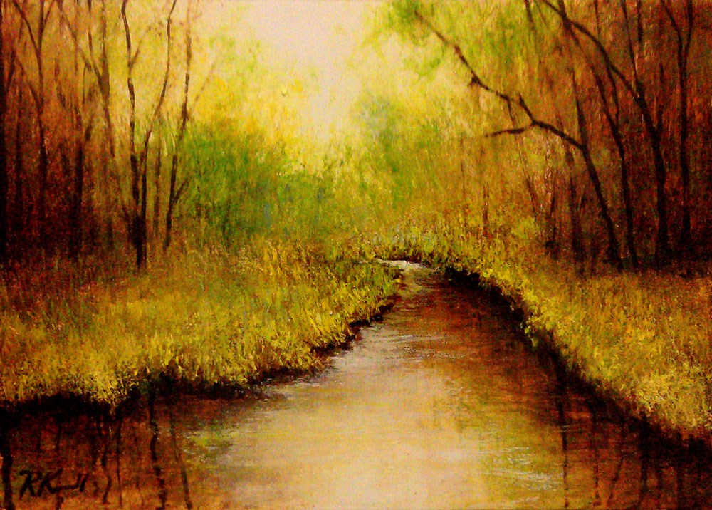 """Vanishing River"" original fine art by Bob Kimball"