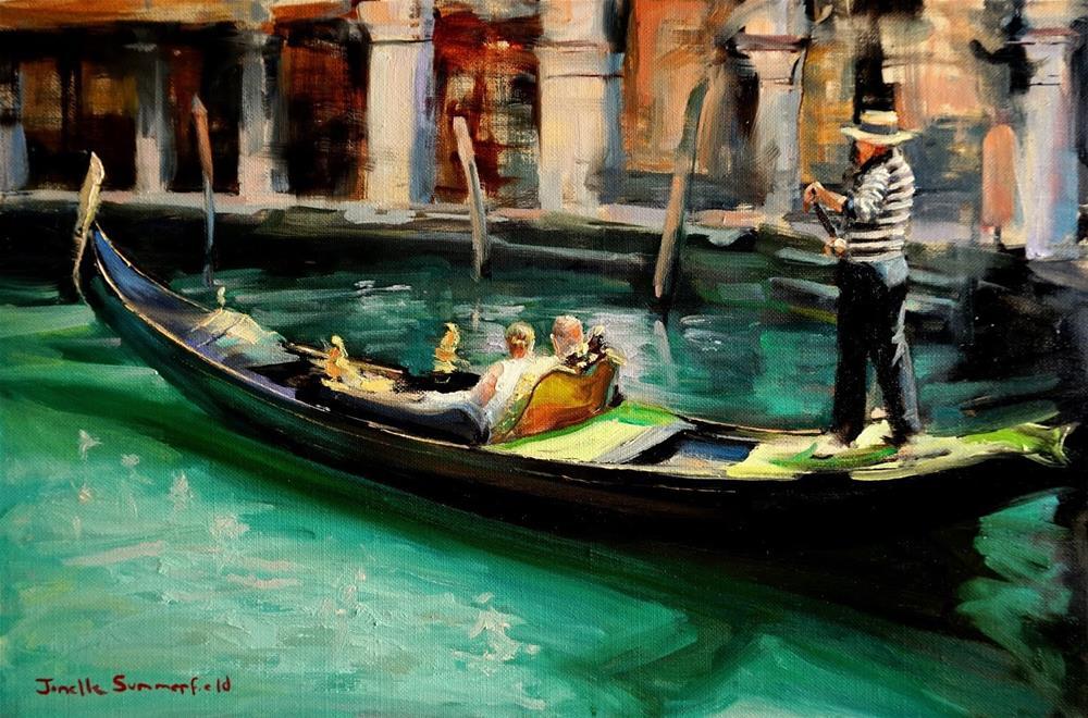 """Venetian Canal Tour"" original fine art by Jonelle Summerfield"