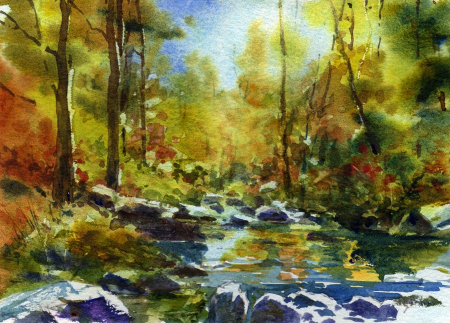 """Oak Creek Canyon Arizona"" original fine art by Linda Henry"