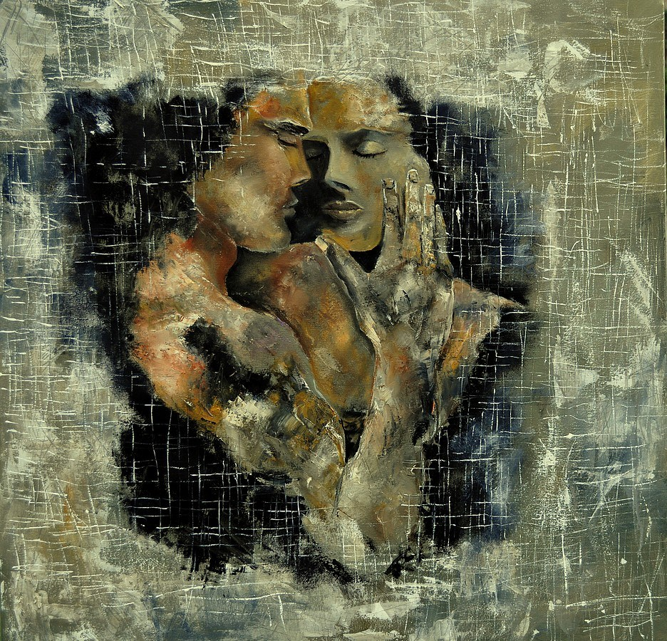 """in love"" original fine art by Pol Ledent"