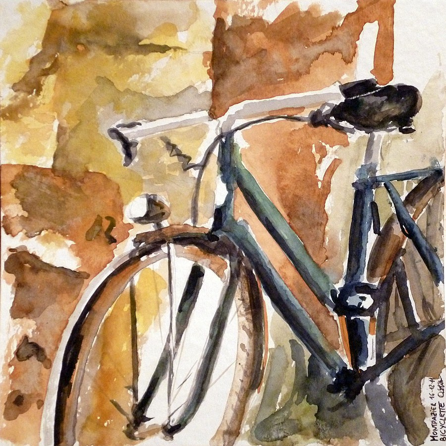 """0124 Bicyclette"" original fine art by Dietmar Stiller"
