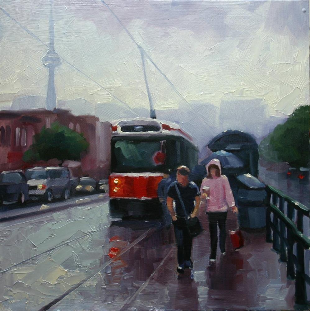 """Heading Home, 510 Spadina Streetcar"" original fine art by Catherine Jeffrey"