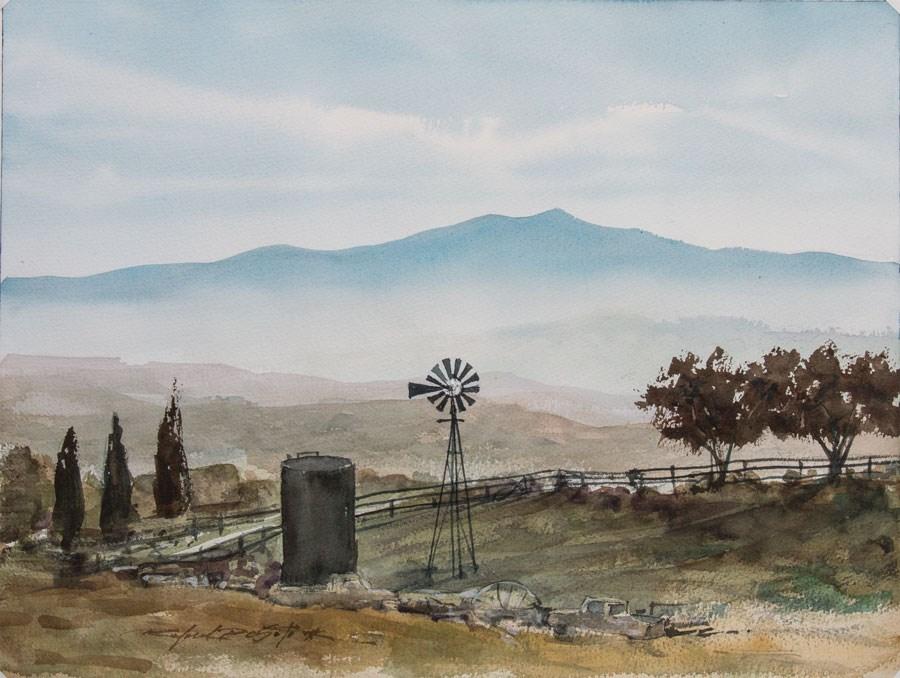 """""""Above San Jose"""" original fine art by Rafael DeSoto Jr."""