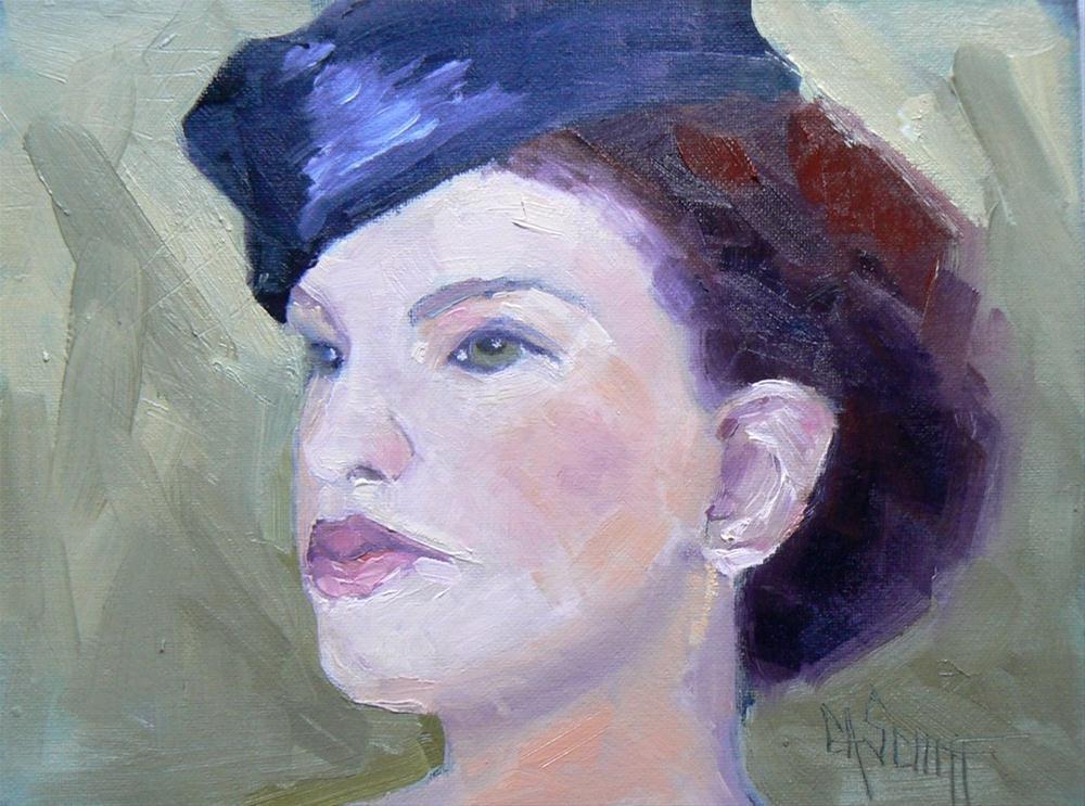 """Small Oil Portrait, Green Eyes"" original fine art by Carol Schiff"