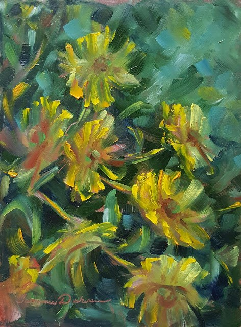 """Sunflower Impressions"" original fine art by Tammie Dickerson"
