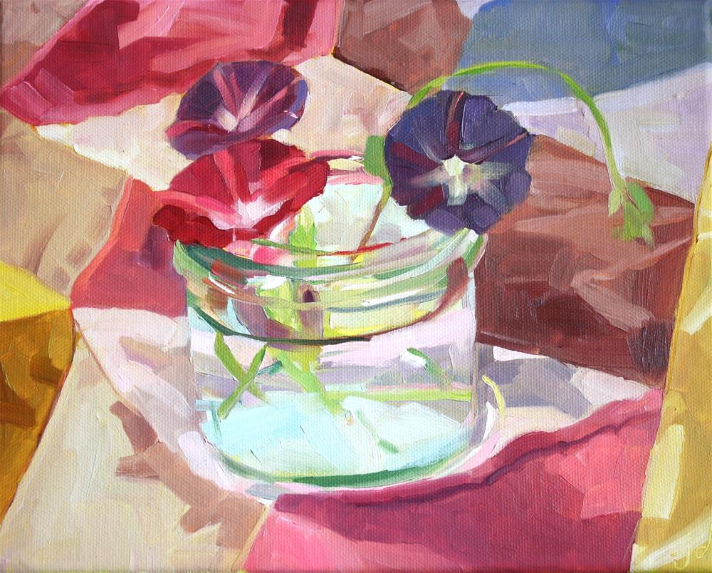 """Morning Glories"" original fine art by Jessie Dodington"