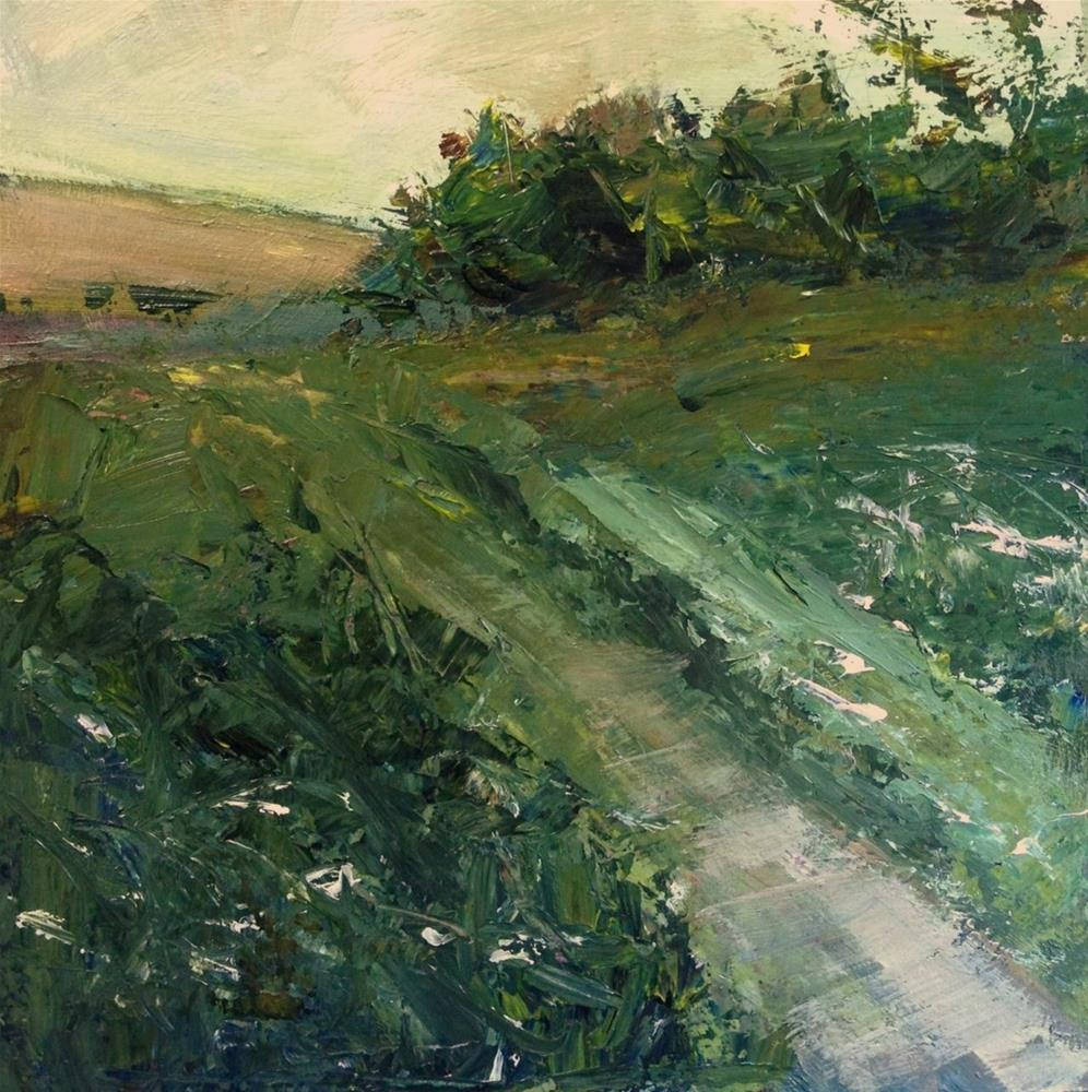 """Through the green fields"" original fine art by Parastoo Ganjei"