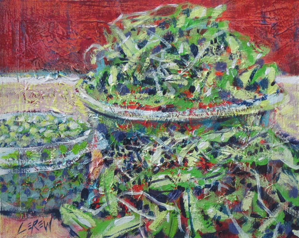 """Spring Pea Pods & Peas by Larry Lerew #160604"" original fine art by Larry Lerew"