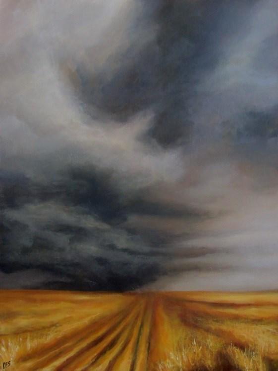 """Harvest On Hold"" original fine art by ~ces~ Christine E. S. Code"