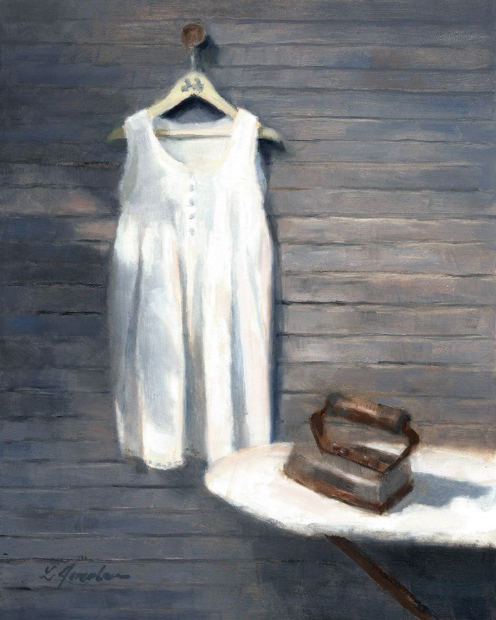 """The White Dress"" original fine art by Linda Jacobus"