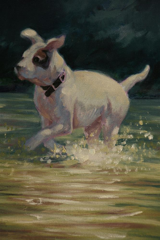 """Spot"" original fine art by Linda Eades Blackburn"