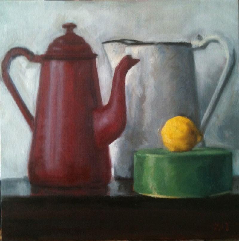 """Red & Green"" original fine art by Megan Schembre"