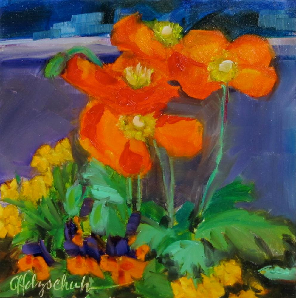"""Poppies"" original fine art by Christine Holzschuh"
