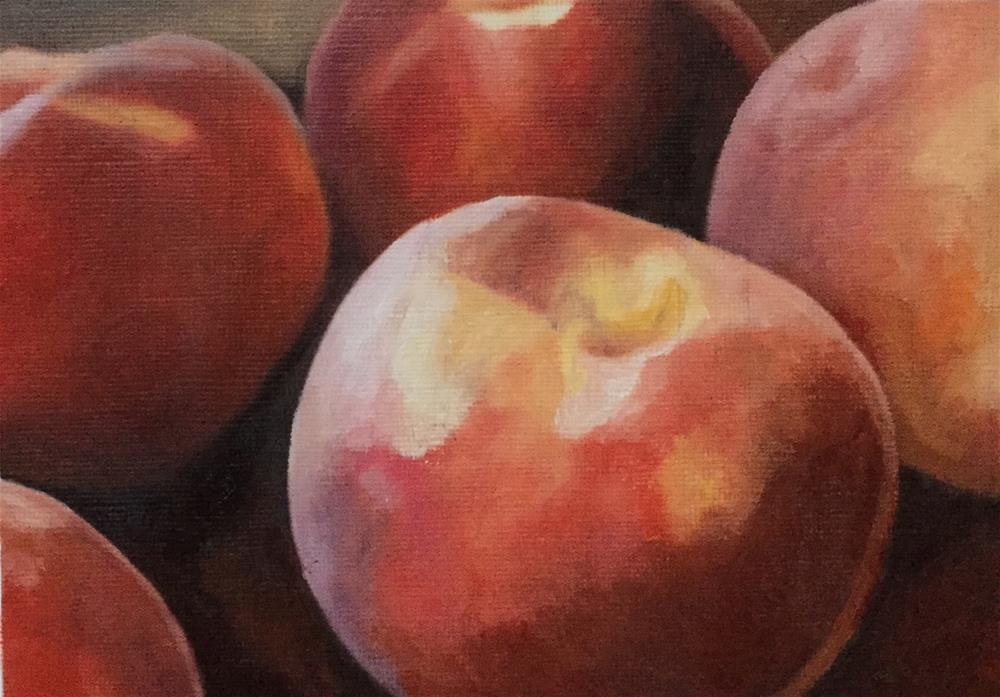 """Peaches"" original fine art by John Cameron"