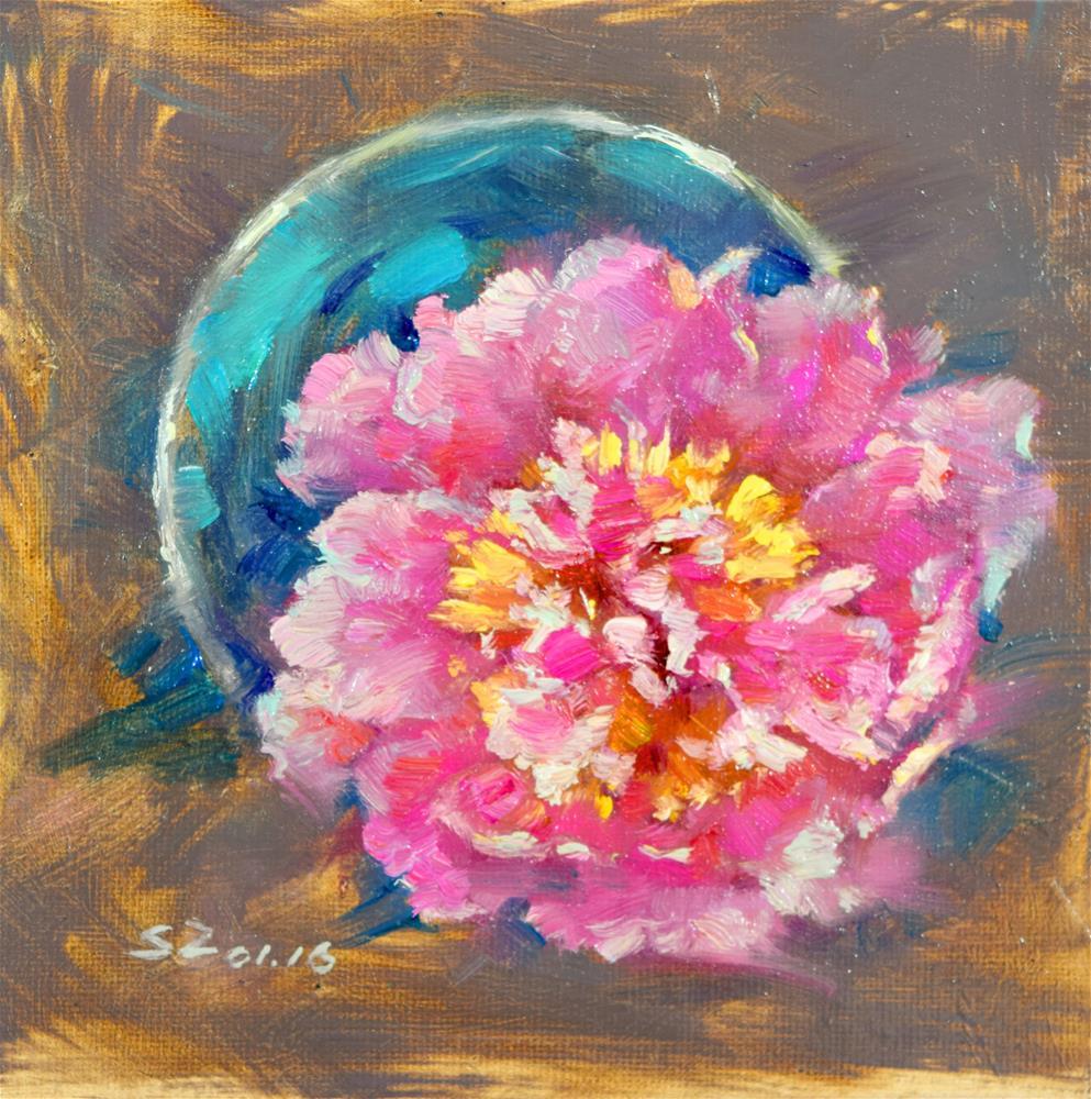 """Peony"" original fine art by Sabrina Zhou"
