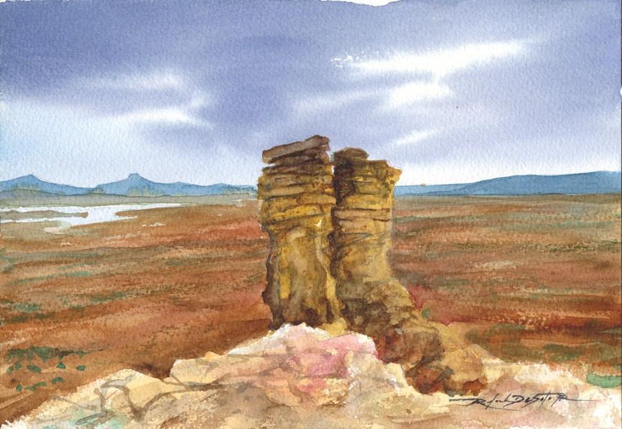 """Chimney Rock Vista New Mexico"" original fine art by Rafael DeSoto Jr."