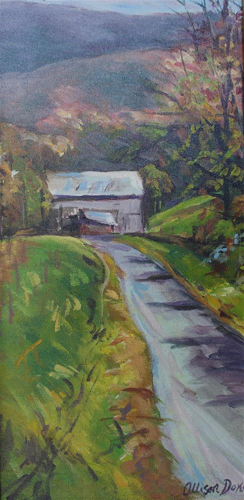 """Tobacco Barn, Tennessee"" original fine art by Allison Doke"
