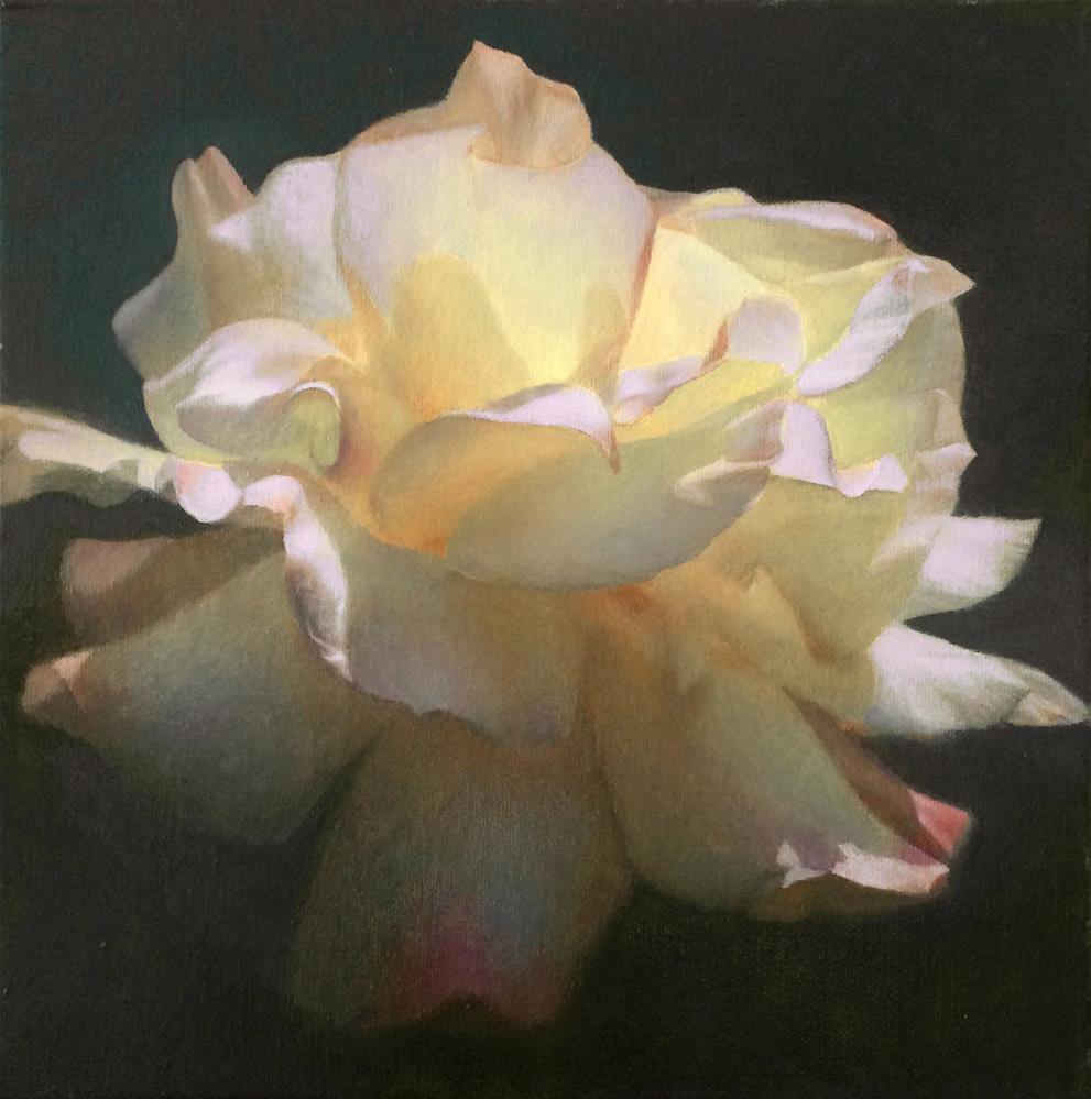 """""""Rose"""" original fine art by Yuehua He"""