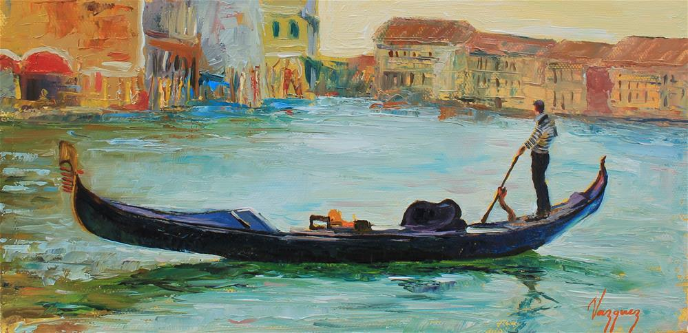 """Gondola"" original fine art by Marco Vazquez"