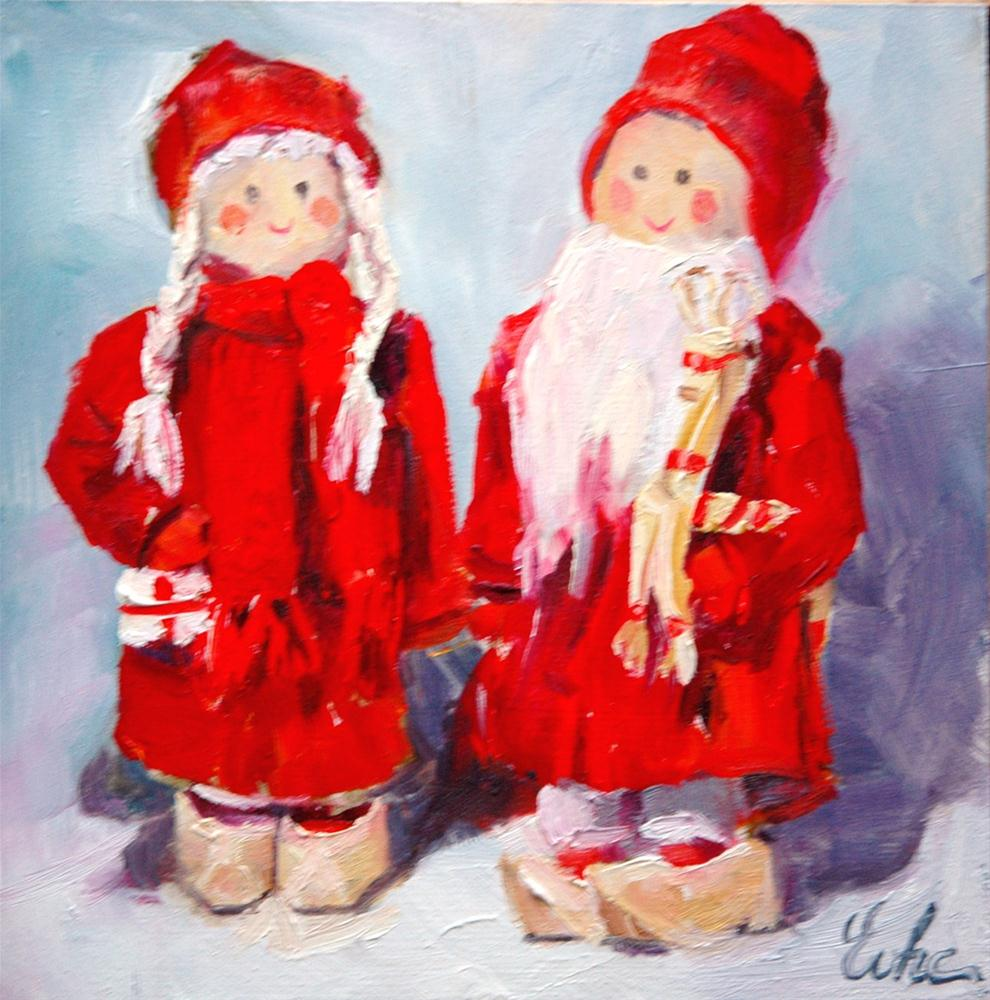 """Joyeux noël !"" original fine art by Evelyne Heimburger Evhe"