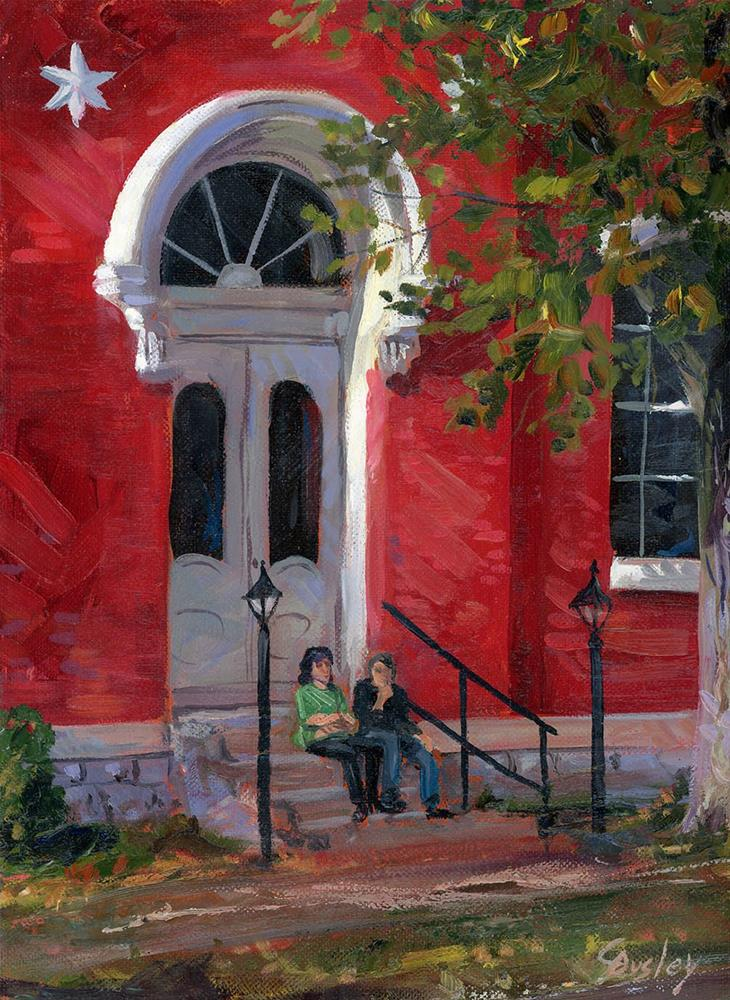"""""""Lincoln County Courthouse in Lynchburg"""" original fine art by Chris Ousley"""
