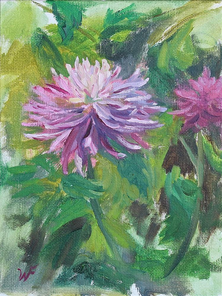 """Dahlia"" original fine art by Wendy Franklin"