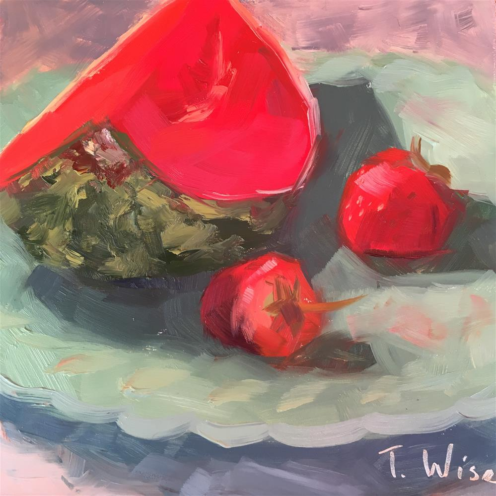 """Red Red Melon"" original fine art by Tracy Wise"
