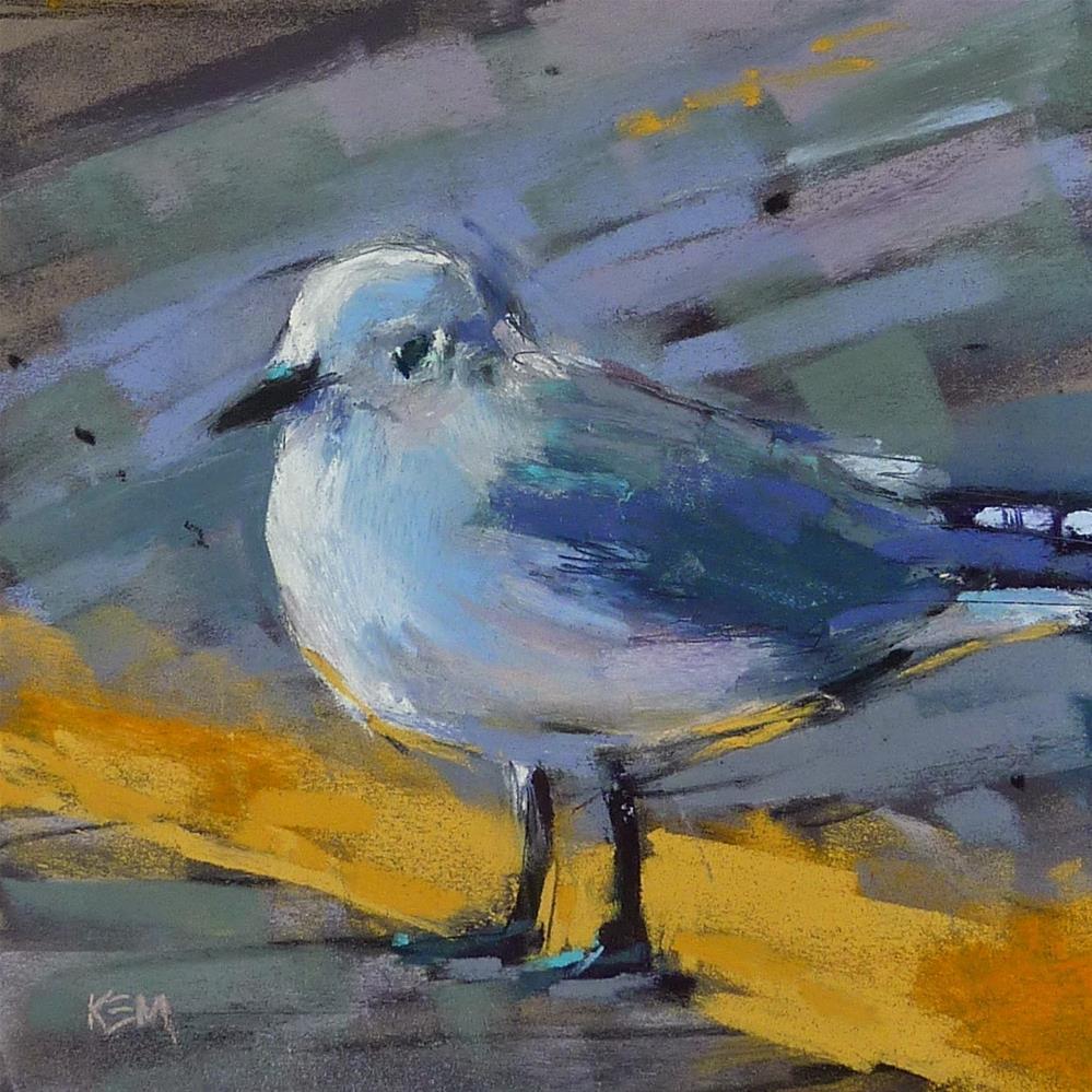 """Paint Along Monday: Painting a Sea Gull"" original fine art by Karen Margulis"