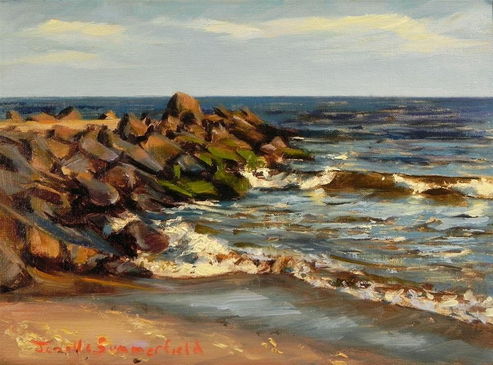 """""""Cape May Jetty II"""" original fine art by Jonelle Summerfield"""