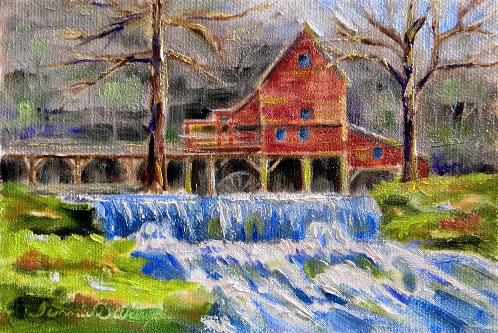 """Spring Comes to Hodgson Mill"" original fine art by Tammie Dickerson"