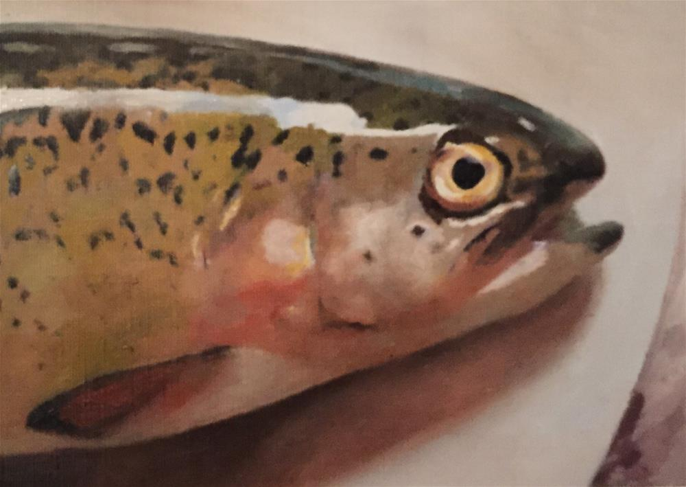 """Fish On A Plate"" original fine art by John Cameron"