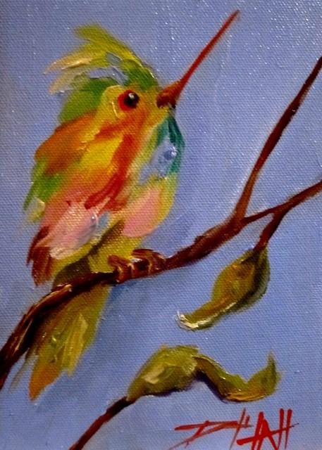 """Hummingbird No. 11"" original fine art by Delilah Smith"