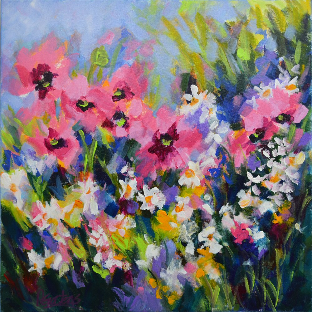 """Poppy Meadow"" original fine art by Pamela Gatens"