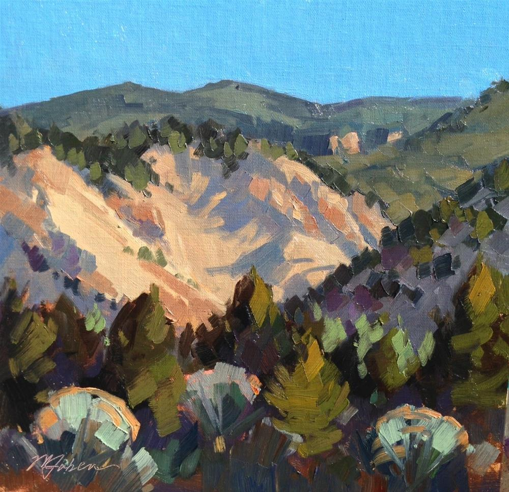 """Morning Shadows on Hwy 14"" original fine art by Mary Jabens"