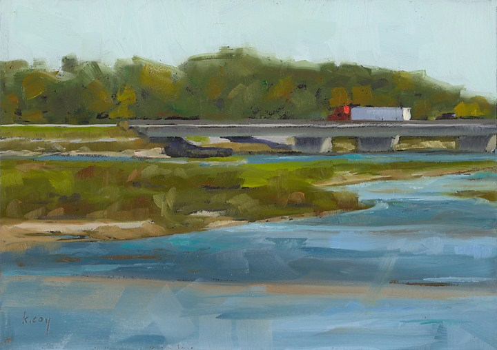 """Platte River Bridge"" original fine art by Kathleen Coy"