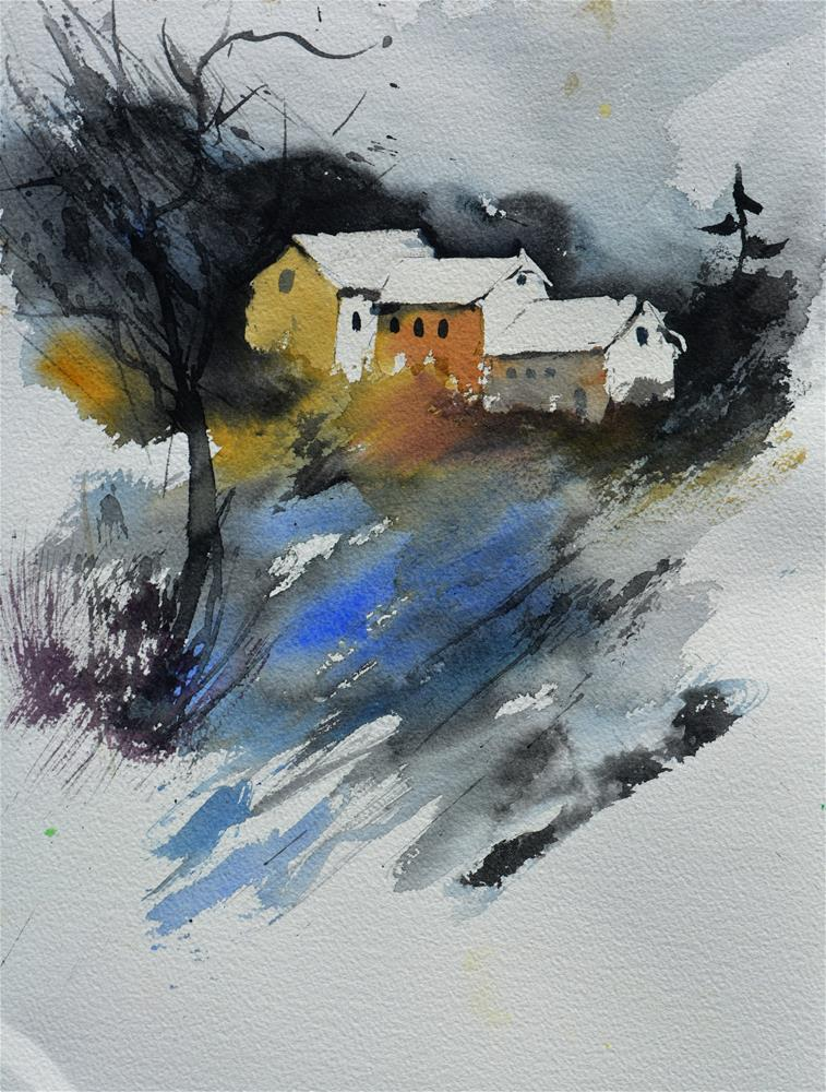 """watercolor 619053"" original fine art by Pol Ledent"