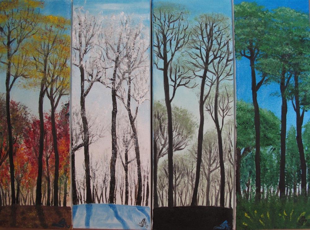"""Seasons"" original fine art by Anna Starkova"